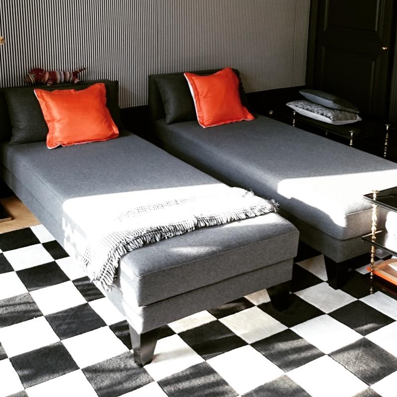 Habillage de lit en flanelle