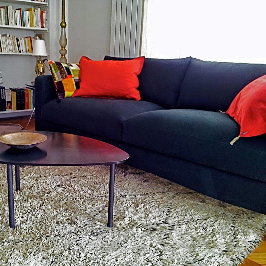 Housse de canapé en lin noir  Kvadrat
