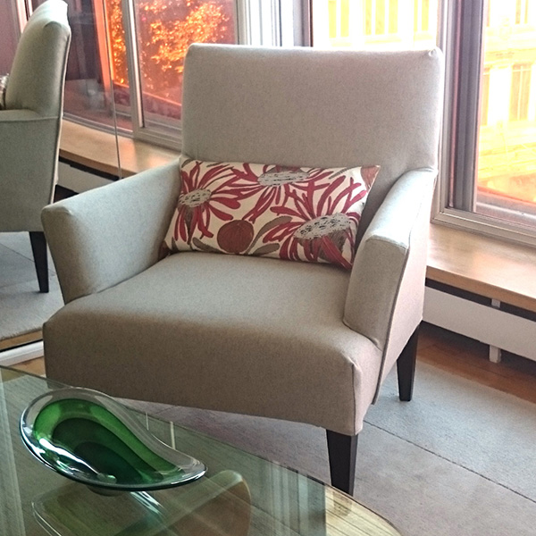 housse de canapé sur mesure fauteuil en flanelle