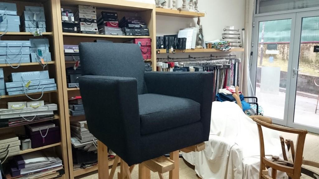 housse de fauteuil sur mesure contemporain en flanelle
