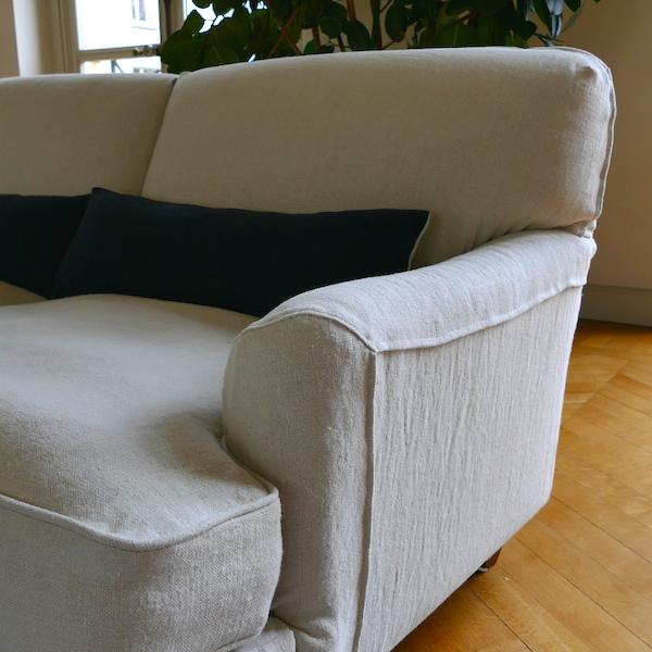 Housse de canapé et de fauteuil en lin