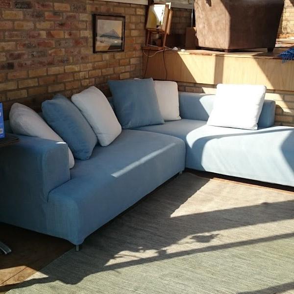 Canapé d'angle bleu Roche Bobois