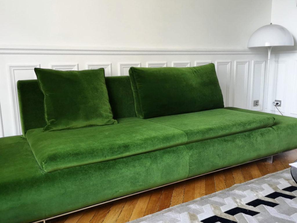 Housse de canapé sur mesure contemporaine